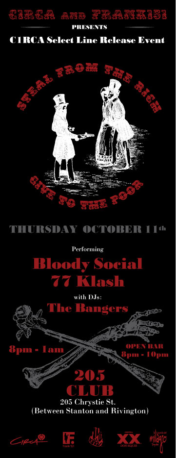 Flyer for 77Klash Frank151 party